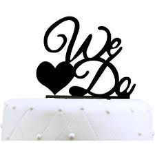 we do cake topper unik occasions we do acrylic wedding cake topper black