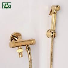 golden brass handheld bidet spray shower set copper bidet sprayer