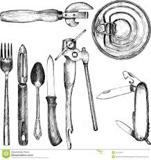 set of different kitchen utensil stock vector image 51267655