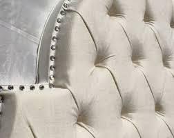 Tufted Linen Headboard by Rhinestone Headboard Etsy