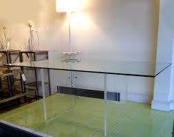 furniture stunning rectangular glass lucite dining table with
