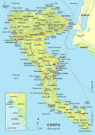 Greek Islands Map The Map Of Corfu Island Kerkyra Gip Real Estate Villas