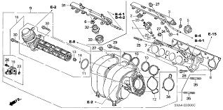 honda crv parts 2004 2005 honda cr v 5 door ex ka 5mt intake manifold hondapartsnow com