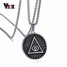 vintage black pendant necklace images Vnox mens eye of providence pendant necklace vintage stainless jpg