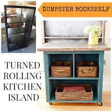 rolling island kitchen island kitchen island with bookshelf dumpster bookshelf turned