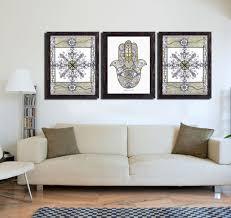 Geometric Area Rug by Living Room Gallery Wall In Mandala Design Art Grey Loveseat