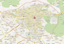 tehran satellite map tehran map