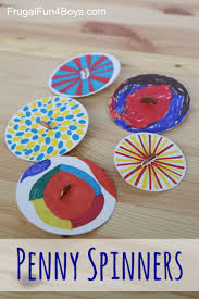 penny spinners u2013 toy tops that kids can make craft activities
