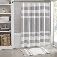 amazon com madison park spa reversible cotton bath rug grey
