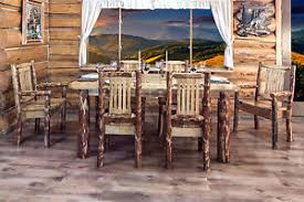 amish table and chairs rustic log kitchen table chairs set amish made lodge dining room