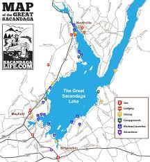 Lake Pleasant Map Great Sacandaga Lake Map Jpg