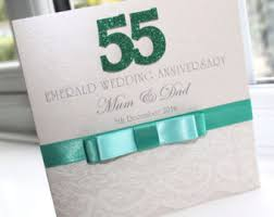 55th wedding anniversary 55th anniversary etsy