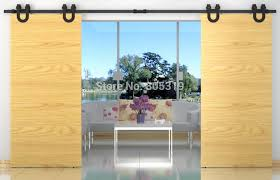 Sliding Door Wood Double Hardware by 10 12 13ft Double Sliding Barn Door Heavy Duty Modern Horseshoe