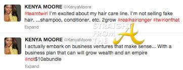 porsha hairline kopycat kenya moore strikes again targets porsha stewart s hair line