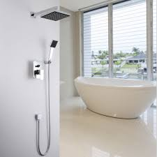 concealed shower set in wall shower faucet 8 inch 20 cm square