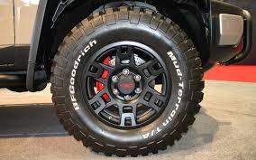 lexus trd wheels trd tuned toyota fj cruiser concept 2012 sema show motor trend