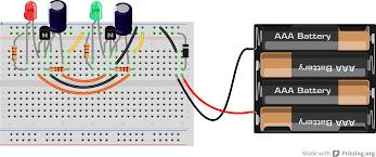 Led Blinking Circuit Diagram The Capacitor U2013 Flasher Backward Workshop