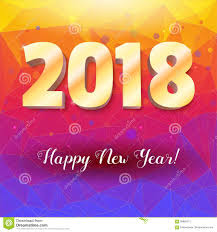 congratulation poster happy new year 2018 volumetric numbers from gold congratulation