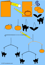How To Make Halloween by How To Make A Halloween Mobile Halloween Crafts Aunt Annie U0027s