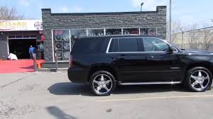 chevy yukon 2017 gmc yukon with custom 22 inch chrome rims custom rims youtube