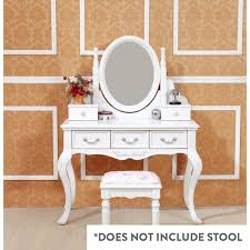 queen anne french dressing table w mirror in white buy dressing