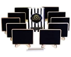 amazon com mini chalkboards place cards with easel stand and