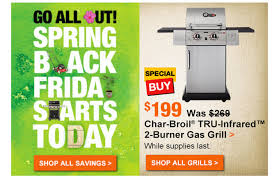 best black friday deals on bbq grills 2016 home depot u0027s u0027spring black friday u0027 stupidity is back u2013 consumerist