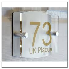 plaque alu decorative up down rounded rectangle double paste gold text effect modern