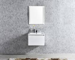 30 led illuminated single sink wall mount floating bathroom