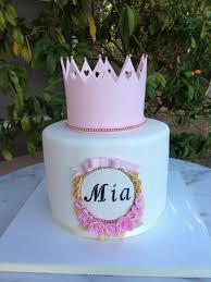 sugar chef pink crown baby shower cake