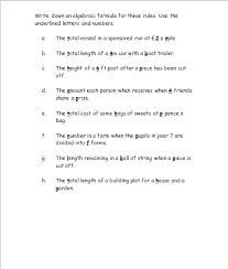 algebraic expressions free worksheets powerpoints and other