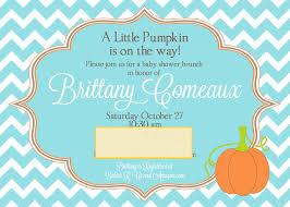 pumpkin baby shower invitations home design