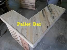 Bar Top Pictures by Terry In The Garage Pallet Bar Part 1 Youtube
