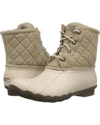 womens quilted boots sale big deal on sperry saltwater quilted wool oyster oatmeal