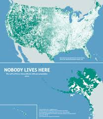 Usa Geography Map by Mapsbynik Nobody Lives Here The Nearly 5 Million Census