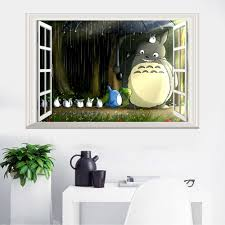 aliexpress com buy baby bedroom 3d totoro sticker removable