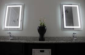 amazon com led backlit mirror with border home u0026 kitchen
