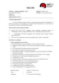 Linux Administrator Resume Sample by Vishnu Rhcsa Resume