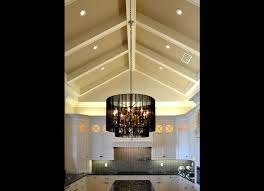 cathedral ceiling kitchen lighting ideas millwork beams in a vaulted ceiling kitchen home design and