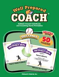 softball certificates for players coaches and team parents 50