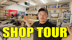 Building A 2 Car Garage by 2 Car Garage Woodshop Shop Tour 2015 Youtube
