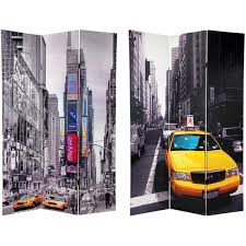 New York Room Divider Handmade Canvas 6 Foot Sided New York Taxi Room Divider