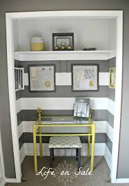 office workspace cute home ideas a closet turned from lowes design