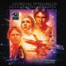 star wars classic 40th anniversary calendar 2018 calendar club uk