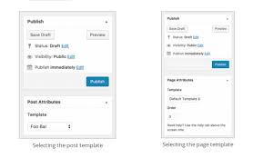 how to create post templates in wordpress