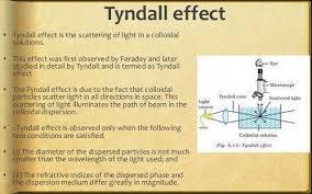 the scattering of light by colloids is called surface chemistry ppt class 12 cbse chapter 5