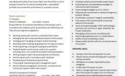 construction project manager sample resume best ideas of