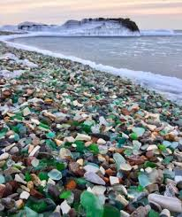 glass beach russia s sea glass beach sparkles in the sun
