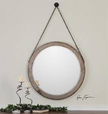 Classy Mirrors by Loughlin Round Wood Mirror 34
