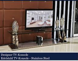 Designer Glastische Esszimmer Designer Tv Konsole Edelstahl Konsolentisch Tisch Glastisch Glas
